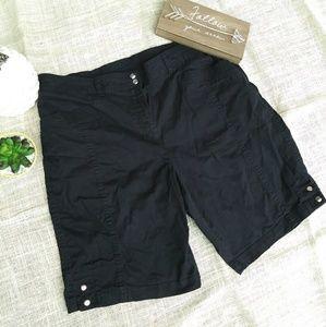 Karen Scott Shorts - Karen Scott Black Cotton Shorts 14